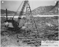 "Photograph with caption ""Upper Miss. River, Dam No. 8...Piling for abutment."" - NARA - 282387.tif"