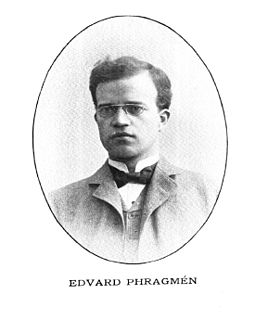 Lars Edvard Phragmén Swedish mathematician