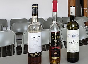 Landscape of the Pico Island Vineyard Culture - Image: Pico Island White Wine Selection