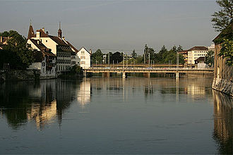 Solothurn - Modern Wengi bridge, the Roman bridge was north of this point.
