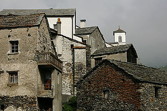 Simplon, Valais - Traditional houses in Simplon village