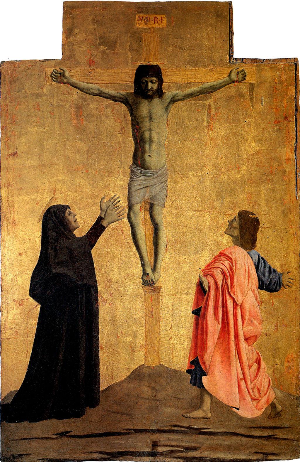 Piero della Francesca, Polittico di Misericordia (particolare Crocifissione)