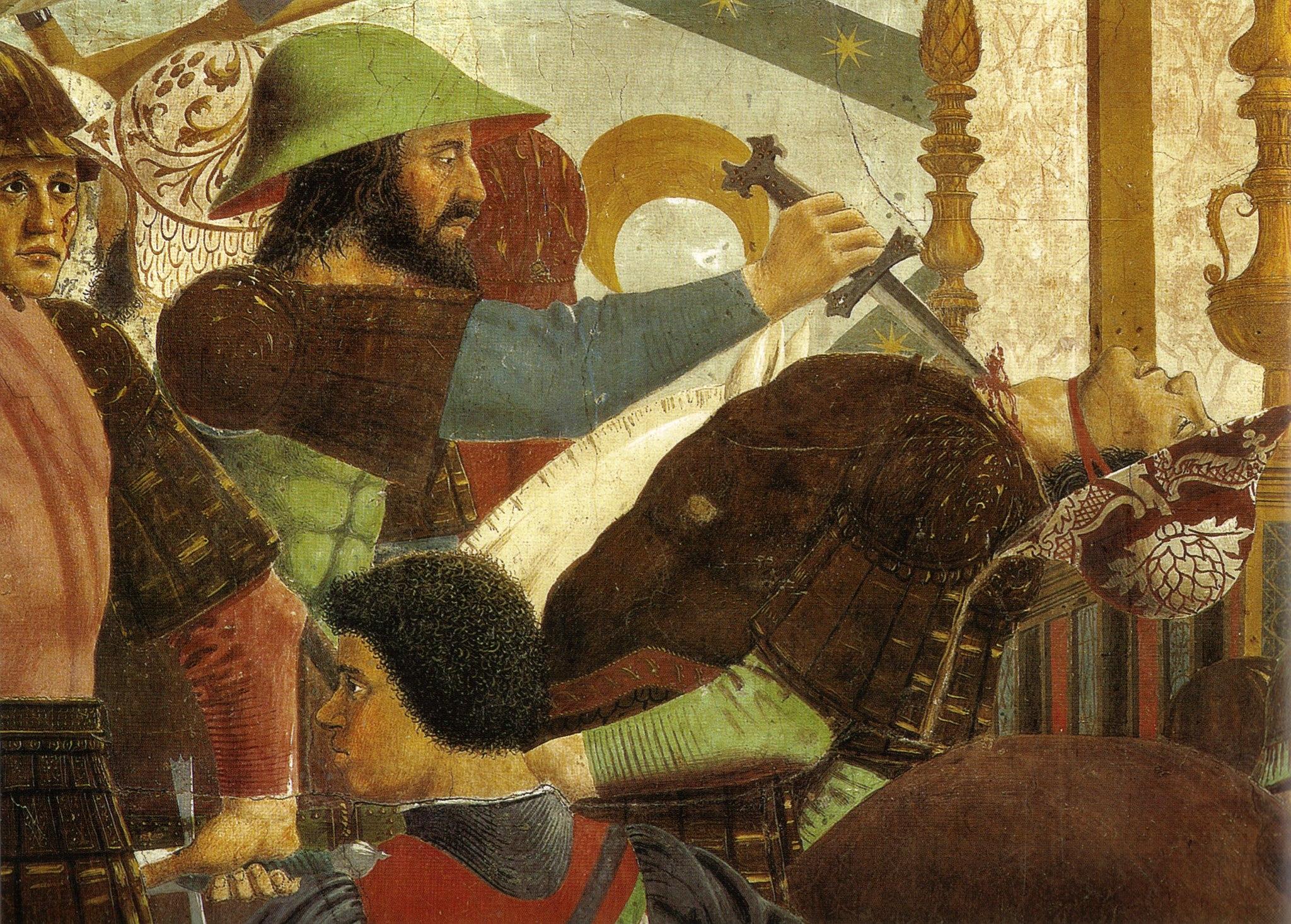 Piero, battaglia di eraclioe cosroe, dettaglio 2