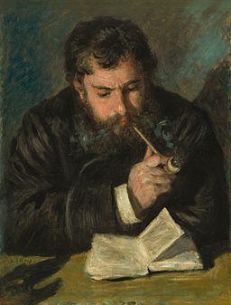 Pierre-Auguste Renoir - Claude Monet (Le Liseur)