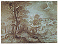 Pieter Bruegel the Elder - 1554 - Wooded Landscape with a Distant View toward the Sea.jpg