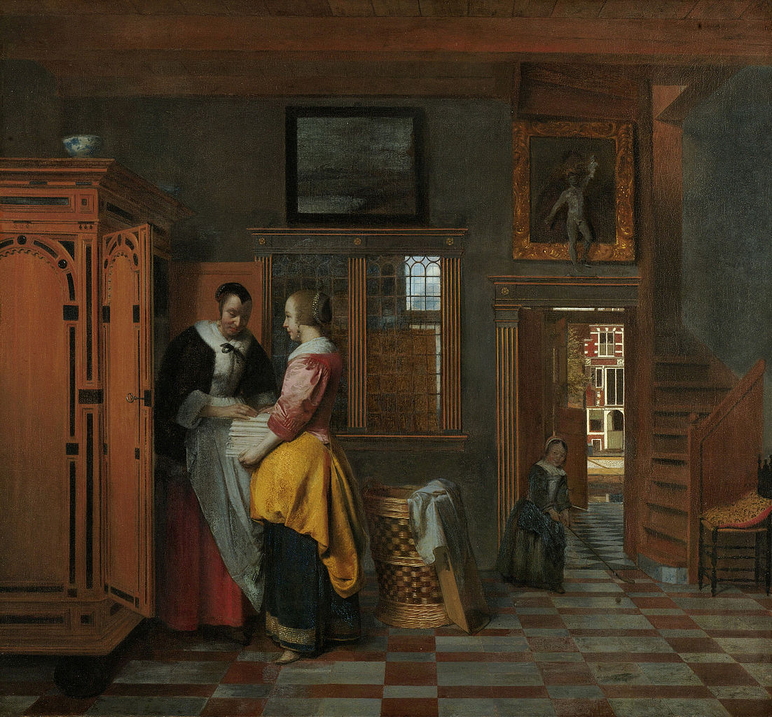 File pieter de hooch at the linen wikimedia for Interieur flamand
