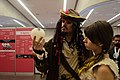 Pirates of the Caribbean cosplay with the Wikipedia globe in TLP 2017 01.jpg