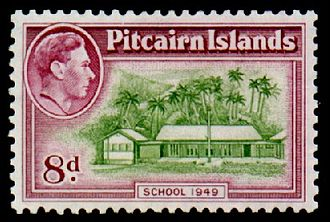 Postage stamps and postal history of the Pitcairn Islands - A 1951 Pitcairn Islands definitive stamp