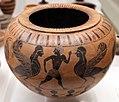 Pittore del louvre, dinos prodotta a cerveteri da arigiani ionici, con uomini, sfingi e galli, 530-520 ac ca., dalla tomba I alla banditaccia 01.jpg