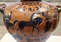 Pittore del louvre E739, hydria ricci, etruria (artigiani da focea), dalla banditaccia, 530 ac. ca., ercole all'olimpo su quadriga con ebe 2.jpg