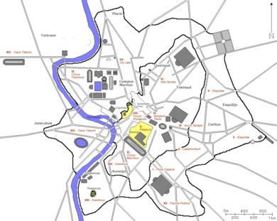 14 Regions Of Augustan Rome Wikipedia