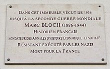 Paris roadsign named after Bloch