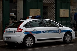 Municipal police - Police municipale Citroën C4 in Aix-en-Provence (France)