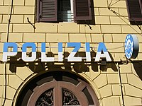 Police station in Rome, Italy.jpg
