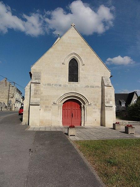 Pommiers (Aisne) l'église en 2015