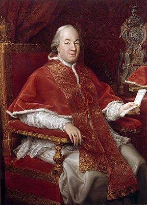 Pope Pius VI - Pompeo Batoni's portrait of Pius VI - 1775