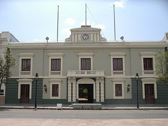 Municipality - The Ponce City Hall, in the city of Ponce, Puerto Rico, is the seat of the government for both the city and the surrounding barrios making up the municipality.