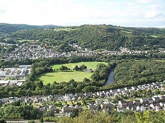 Pontardawe - Pontardawe from 'The Graig' above Alltwen