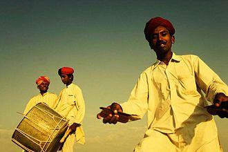 Khartal - Player of khartal sheets, Rajasthan