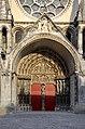 Porche principal de la cathédrale de Laon sur la façade ouest DSC 0740.jpg