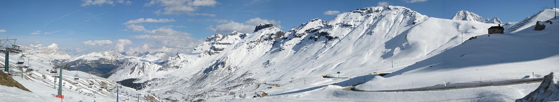 Passo Pordoi nevado
