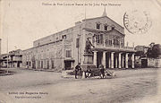 A postcard c.1900-1910 showing the Port Louis theatre.