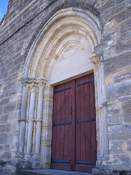 Portal of the Saint-Laurent church, in Ville-en-Tardenois (France, 51)