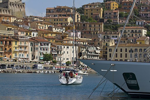 The fashionable Porto Santo Stefano