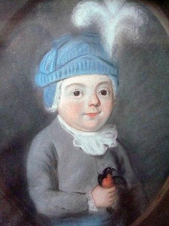 """Antoine Clet - Portrait said to be """"The poet Clet as a child"""", circa 1710, Musée Crozatier, Le Puy-en-Velay"""