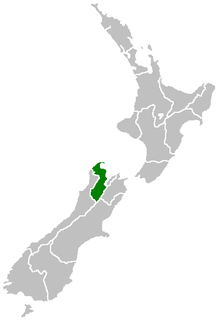 Position of Tasman Region