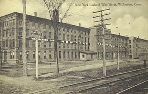 Wallingford, Connecticut - Image: Postcard Wallingford CT New York Insulated Wire Company Factory Circa 1910