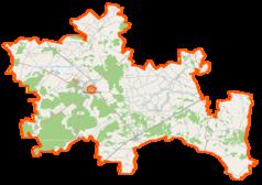 Mapa lokalizacyjna powiatu ostrowskiego