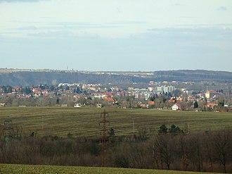 Roztoky - Roztoky seen from Prague-Čimice
