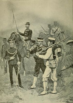 Ernest Prater - Soldiers of the Japanese army (1904 illustration)