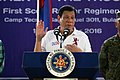 President Rodrigo Duterte addresses the scout rangers during his visit to Camp Tecson.jpg