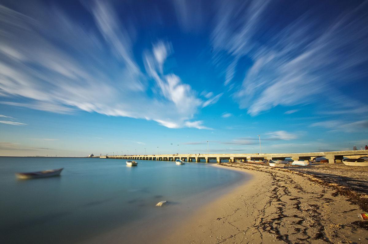 Vista de la playa de Progreso