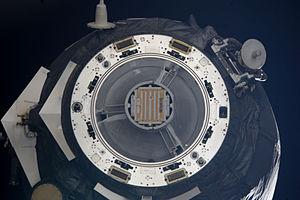 Progress M-13M - Progress M-13M departs the ISS with the Chibis-M satellite on 23 January 2012.