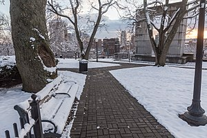 Prospect Terrace Park - Image: Prospect Terrace Park after snowfall, Providence, Rhode Island