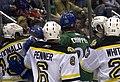 Providence Bruins vs Connecticut Whale scrum 2.jpg