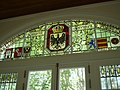 Prussian coat of arms, stained glass, at Horta, Fayal, Azores.jpg