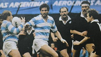 1985 New Zealand rugby union tour of Argentina - Scene of the second test v. Argentina at Ferro Carril Oeste, the only draw of the tour (21–21)