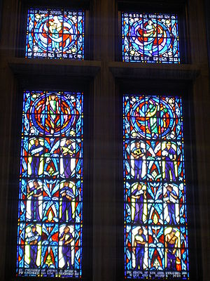 Purdue Memorial Union - Image: Purdue Memorial Hall Stained Glass