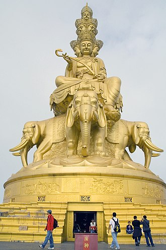Bodhimaṇḍa - Statue of the bodhisattva Samantabhadra at Mount Emei