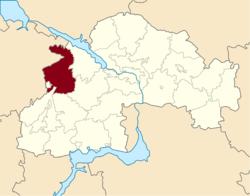 Vị trí của huyện Piatykhatky trong tỉnh Dnipropetrovsk