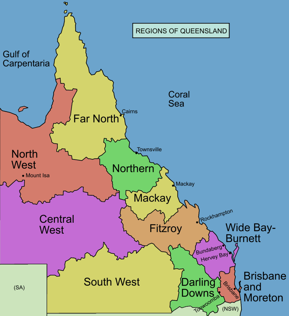 clipart map of queensland - photo #24