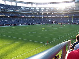 Interior of Qualcomm Stadium before SDSU Aztec football game