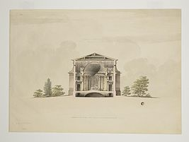 Quarenghi - Cross-section of the Maltese Chapel - View on the altar.jpg