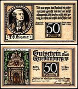 Quedlinburg 50 Pfennig Rathaus Portal.jpg