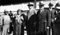 Queensland State Archives 3819 Hon HF Walker Minister for Agriculture and Stock left and Hon WH Barnes Treasurer at RNA Show Official Opening Ceremony 1930.png