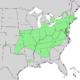 Quercus prinoides range map.png